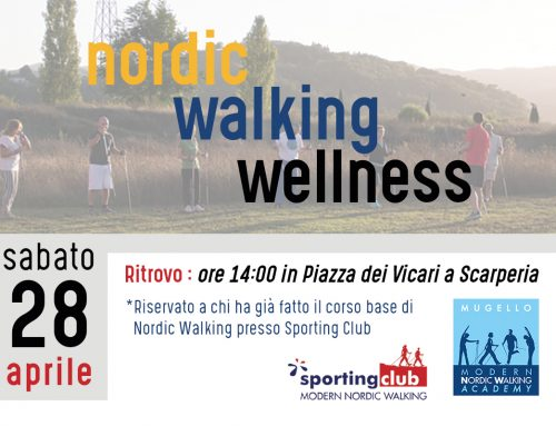 Nordic Walking Wellness – Evento Sabato 28 Aprile