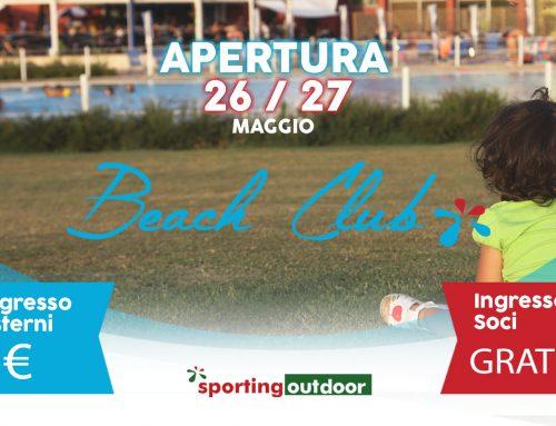 Apertura Beach Club 26 e 27 Maggio