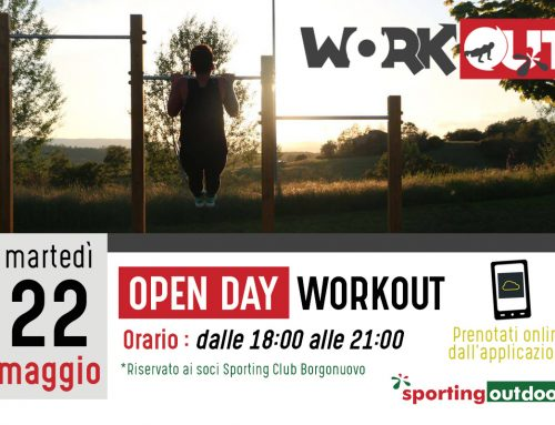 Open day Workout – Martedì 22 Maggio
